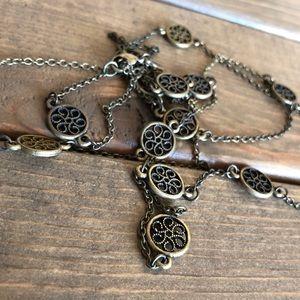 American Eagle Long Medallion Necklace